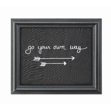 "Sayings ""Go Your Own Way"" Framed Wall Art"
