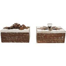 2 Piece Wood Memory Box Set (Set of 2)