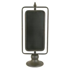 Honey and Grey Metal 2 Sided Chalkboard