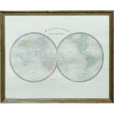 Turn of the Century Wood Framed Map Wall Decor