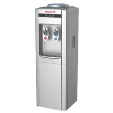Top Loading Hot, Cold, and Room Temperature Free-Standing Water Cooler in Silver