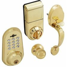 Digital Keyless Electronic Single Cylinder Entrance Handleset with Remote