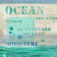Ocean Wall Art by Suzanne Nicoll Vintage Advertisement Plaque
