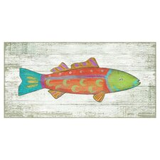 Funky Fish 1 Wall Art by Suzanne Nicoll Painting Print Plaque