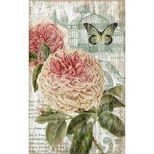 Suzanne Nicoll Jardin Pink Graphic Art Plaque