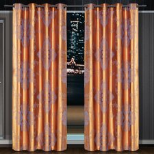 Dolce Mela Freya Cotton Grommet Drape Single Curtain Panel