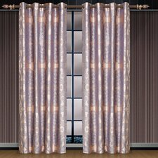 Dolce Mela Iris Cotton Grommet Drape Single Curtain Panel