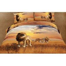 Dolce Mela African Lions 6 Piece Duvet Cover Set