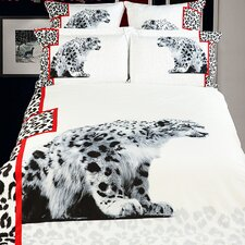 White Cheetahs Duvet Cover Set