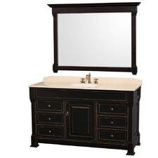 """Andover 60"""" Single Bathroom Vanity Set with Mirror"""