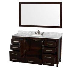 "Sheffield 60"" Single Bathroom Vanity Set with Mirror"