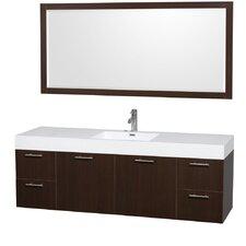 """Amare 72"""" Single Bathroom Vanity with Mirror"""