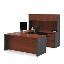 Prestige + U-Shape Executive Desk with Hutch