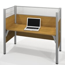 Pro-Biz Simple Workstation with 6 Privacy Panels