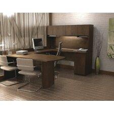 U-Shape Computer Desk with Hutch