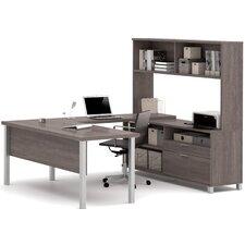 Pro-Linea 4-Piece U-Shape Desk Office Suite