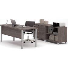 Pro-Linea 3-Piece U-Shape Desk Office Suite