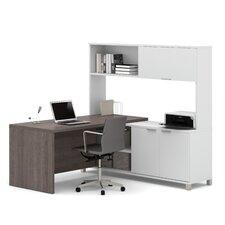Pro-Linea 3-Piece L-Shape Desk Office Suite