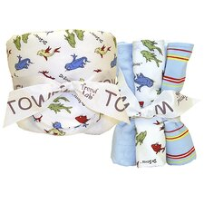 Dr. Seuss One Fish Two Fish Bouquet Hooded 6 Piece Towel Set