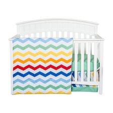 Happy Chevron 3 Piece Crib Bedding Set