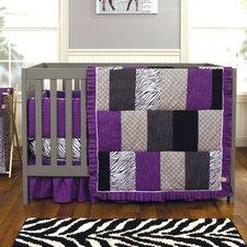 Grape Expectations 3 Piece Crib Bedding Set