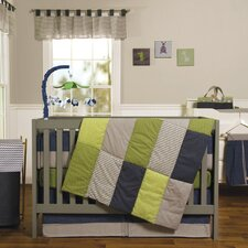 Perfectly Preppy 3 Piece Crib Bedding Set