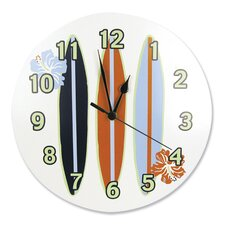 """11"""" Surf's Up Wall Clock"""