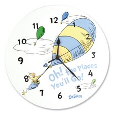 "Dr. Seuss ""Oh The Places You''ll Go 11"" Wall Clock"
