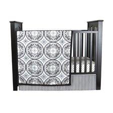 Medallions 3 Piece Crib Bedding Set