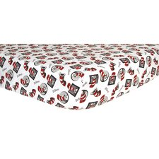 Dr. Seuss Cat In The Hat Flannel Crib Sheet