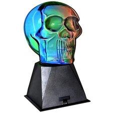 "Plasma Skull 9.4"" H Table Lamp with Novelty Shade"