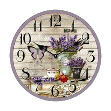 "13.3"" Butterfly Flower Wall Clock"