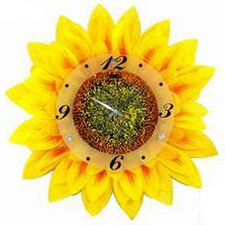 "17.34"" Sunflower Wall Clock"