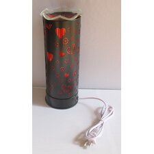 "Aroma Heart 11"" H Table Lamp with Drum Shade"