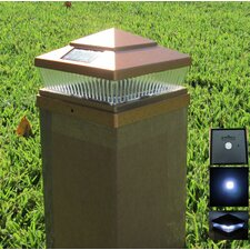 78 Lumens 5 Light Outdoor Solar Post Cap Light
