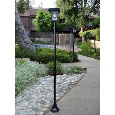 "4 Light 77"" Solar Post Lantern Set"