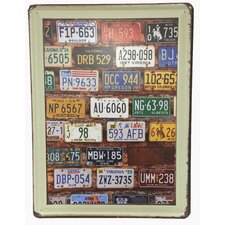 Vertical Metal State License Plate Wall Decor