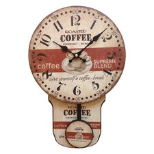 Coffee and Moving Pendulum Wall Clock