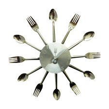"13.97"" Forks and Spoons Wall Clock"