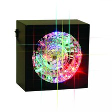 """Square Rotating Mirror Ball Light 5"""" H Table Lamp with Novelty Shade"""