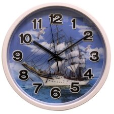 "12"" Clock with Ship Design with 3D Hologram Clock Face"