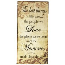 The Best Things Sign Wall Decor