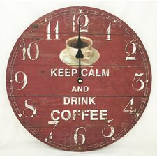 "13.38"" Keep Calm and Drink Coffee Clock"