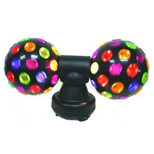 """Twin Electrical Disco Ball Light 7.38"""" H Table Lamp with Sphere Shade"""