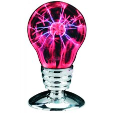"Plasma Pink and Black Light 10.82""H Table Lamp with Novelty Shade"