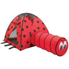 LadyBug Play Tent and Tunnel Combination