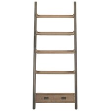 """Library 90.5"""" Leaning Bookcase"""