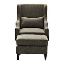 Ashbury Wingback Club Chair and Ottoman