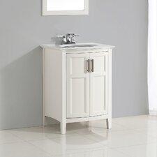 "Winston 25"" Single Rounded Front Bathroom Vanity Set"