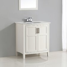 "Winston 31"" Single Rounded Front Bathroom Vanity Set"